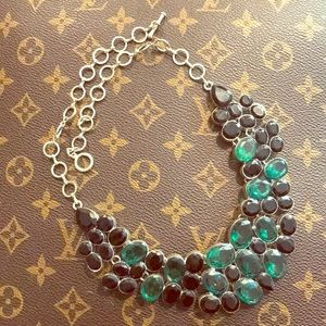 Jewelry - Green and Black Bib Statement Necklace